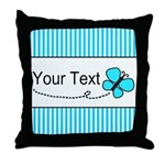 Personalizable Teal Butterfly Throw Pillow