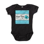 Personalizable Teal Butterfly Baby Bodysuit