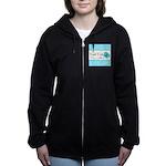 Personalizable Teal Butterfly Women's Zip Hoodie