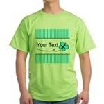 Personalizable Teal Butterfly T-Shirt