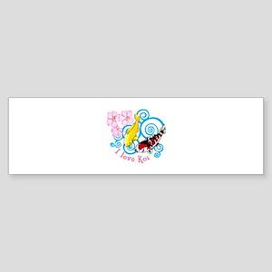 I LOVE KOI Bumper Sticker