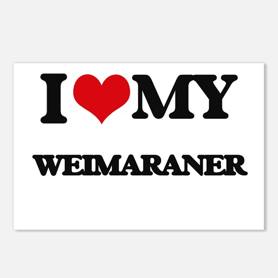 I love my Weimaraner Postcards (Package of 8)