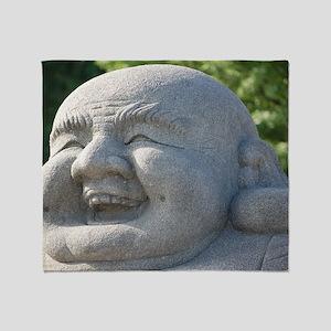 Smiling Buddha Throw Blanket