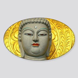 Enigmatic Buddha Sticker (Oval)