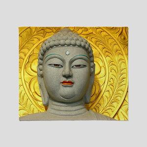 Enigmatic Buddha Throw Blanket