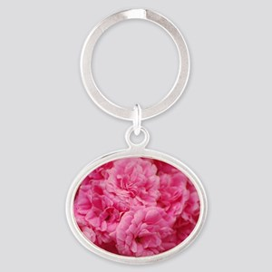Pale pink roses Oval Keychain