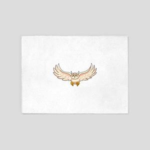 Owls Mascot 5'x7'Area Rug