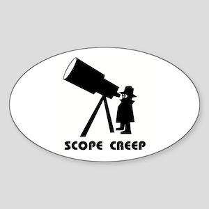 Scope Creep Oval Sticker