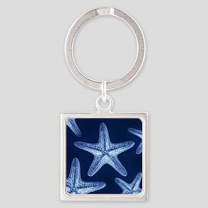 beach blue starfish Square Keychain