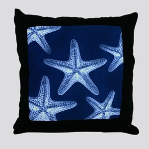 beach blue starfish Throw Pillow
