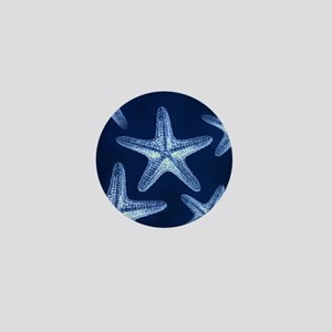beach blue starfish Mini Button