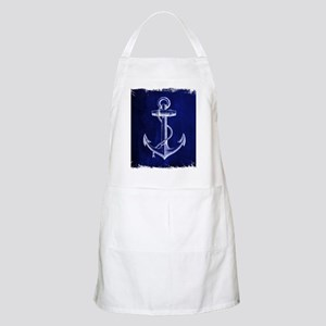 nautical navy blue anchor Apron