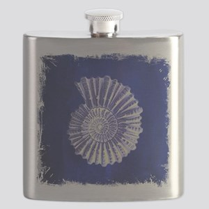 beach blue sea shells Flask