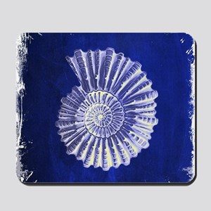 beach blue sea shells Mousepad
