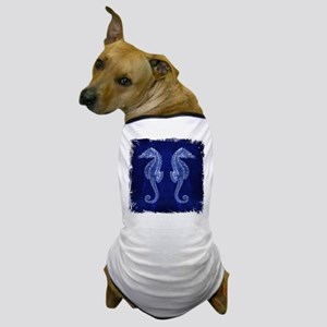 beach blue seahorse Dog T-Shirt