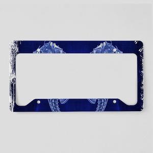 beach blue seahorse License Plate Holder