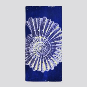 beach blue sea shells Beach Towel
