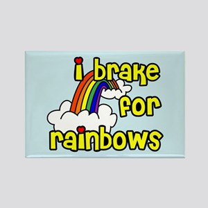 I Brake For Rainbows Rectangle Magnet