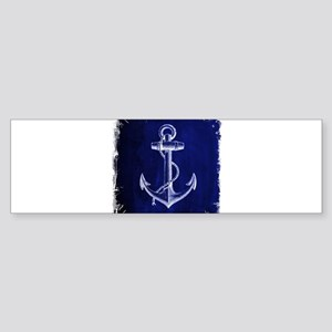 nautical navy blue anchor Bumper Sticker