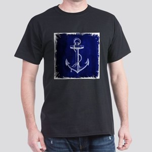 nautical navy blue anchor T-Shirt