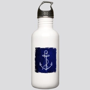 nautical navy blue anc Stainless Water Bottle 1.0L