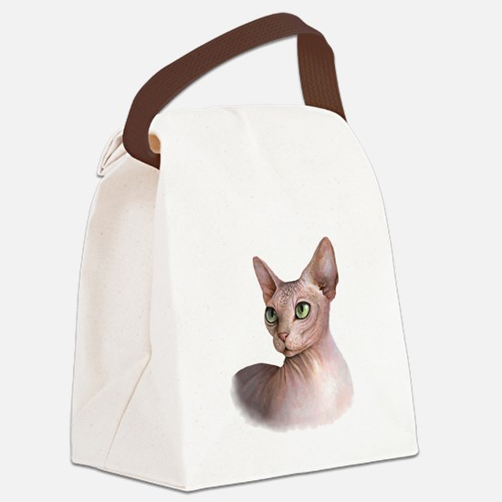 Cat 578 sphinx Canvas Lunch Bag