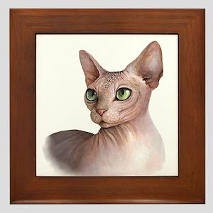 Cat 578 sphinx Framed Tile