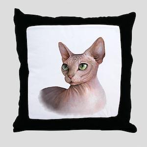 Cat 578 sphinx Throw Pillow