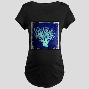 modern beach coral Maternity T-Shirt