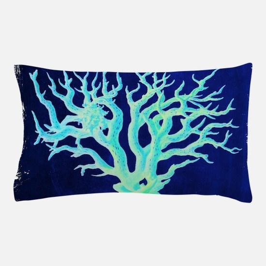 modern beach coral Pillow Case