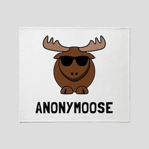 Anonymoose Throw Blanket