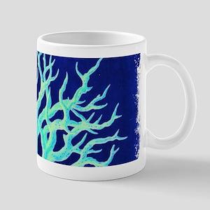 modern beach coral Mugs