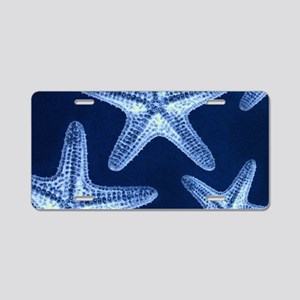 beach blue starfish Aluminum License Plate