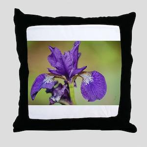 iris outdoors Throw Pillow
