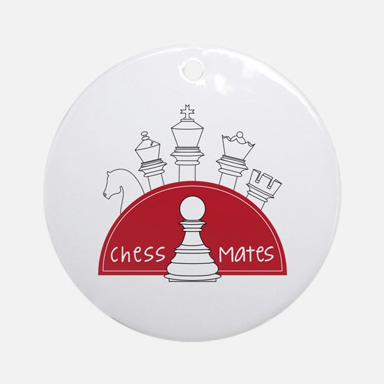 Chess Mates Ornament (Round)