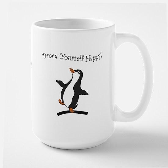 Dancing Penguin - Happy Penguin Large Mug