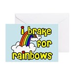 I Brake For Rainbows Greeting Cards (Pk of 10)