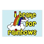 I Brake For Rainbows Postcards (Package of 8)