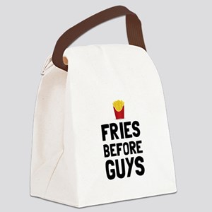 Fries Before Guys Canvas Lunch Bag