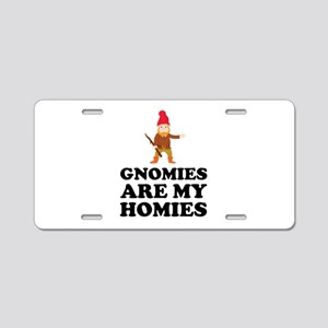Gnomies Are My Homies Aluminum License Plate