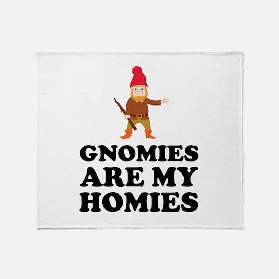 Gnomies Are My Homies Throw Blanket