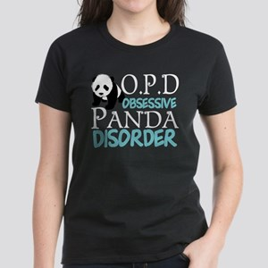 Cute Panda Women's Dark T-Shirt