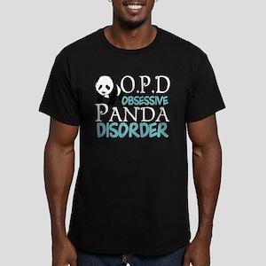 Cute Panda Men's Fitted T-Shirt (dark)