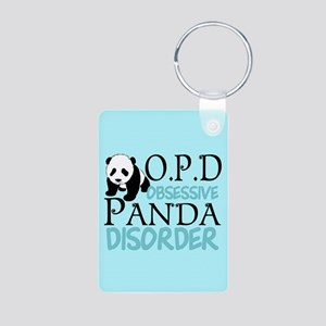 Cute Panda Aluminum Photo Keychain