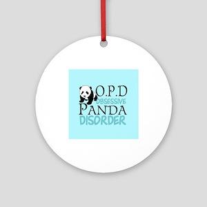 Cute Panda Ornament (Round)