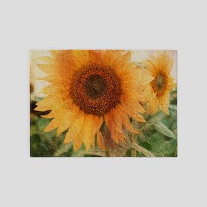 sunflowers 5'x7'Area Rug