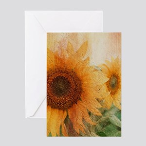 sunflowers Greeting Cards