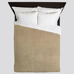 Faded Burlap Queen Duvet