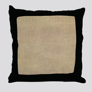 Faded Burlap Throw Pillow