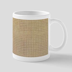 Faded Burlap Mugs